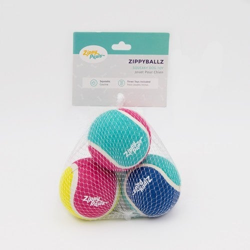 ZippyBallz 3-Pack Dog Toy