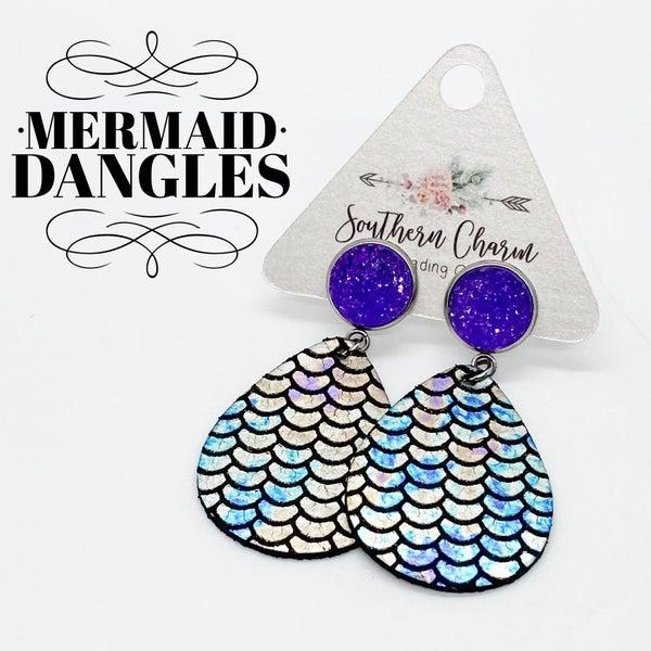 Metallic Mermaid Dangles *FINAL SALE*