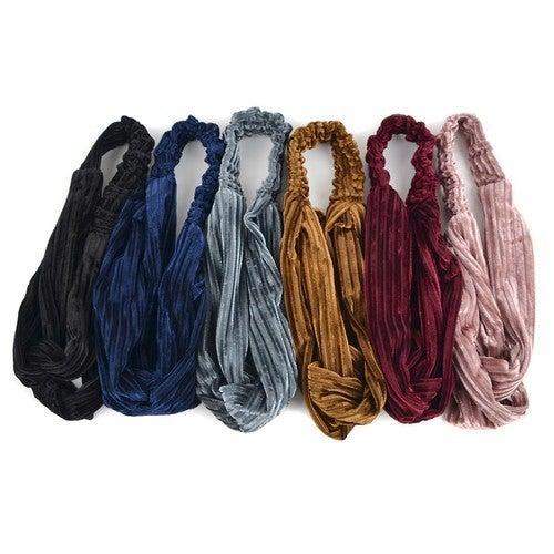 Velvety Solid Headbands