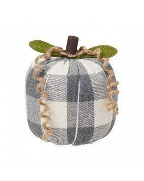 Medium GW Checkered Fabric Pumpkin