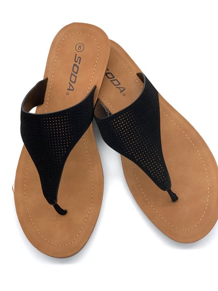 Black Sunny Day Sandals
