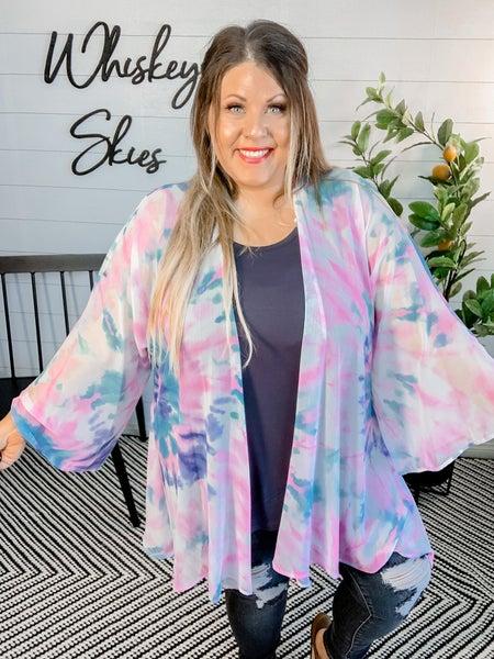 Multi Color Woven Kimono