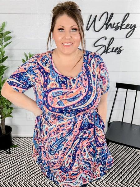 PLUS Multicolor Paisley Dress *FINAL SALE*