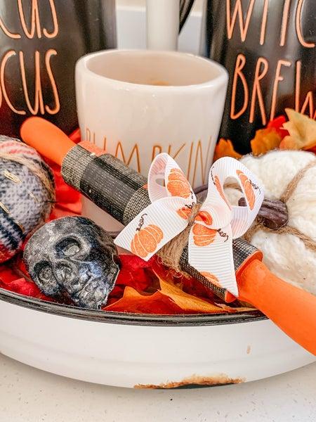 Fall Mini Rolling Pins - Pumpkin Plaid