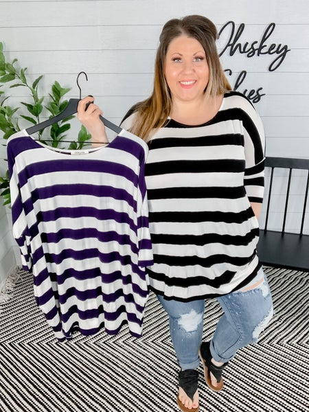 PLUS/REG Comfy Stripped Tunic