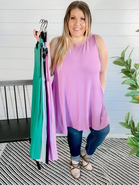 PLUS/REG Sleeveless Tunic With Pockets *FINAL SALE*