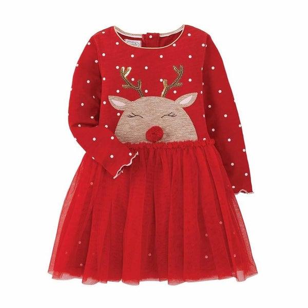 YOUTH Reindeer Mesh Dress *FINAL SALE*