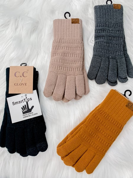 Classic Knit Gloves with Smart Tip
