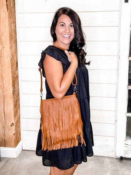 Leather Tassel Handbag