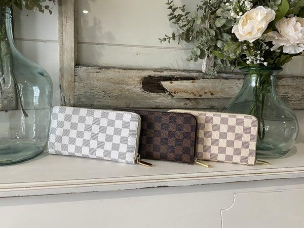 Checkered London Wallet