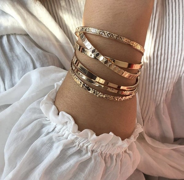 Gold Plated Bracelet Set