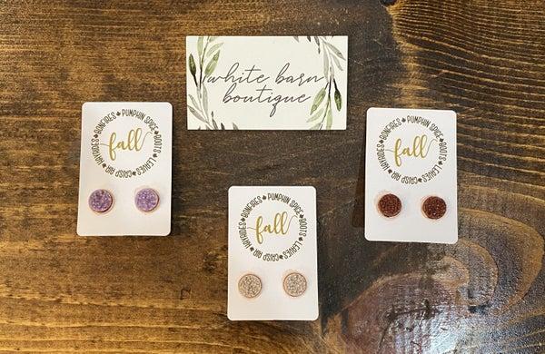 Fall Druzy Earrings