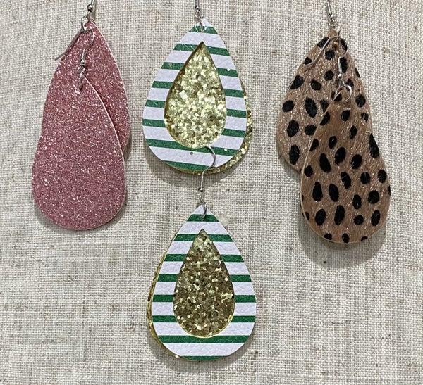 Mystery Leather Earrings