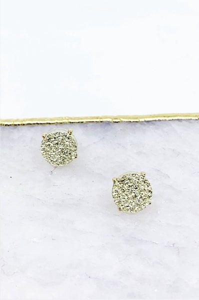 Druzy Post Earrings