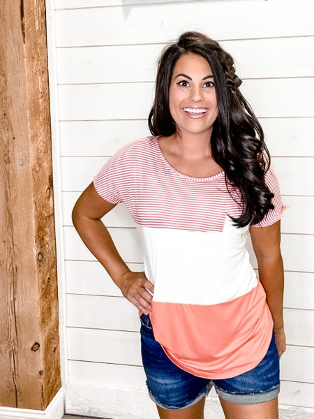 Pin Stripe Pocket Tee