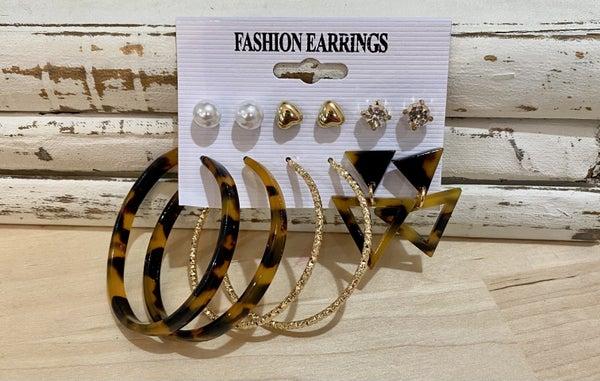6 Piece Earring Set