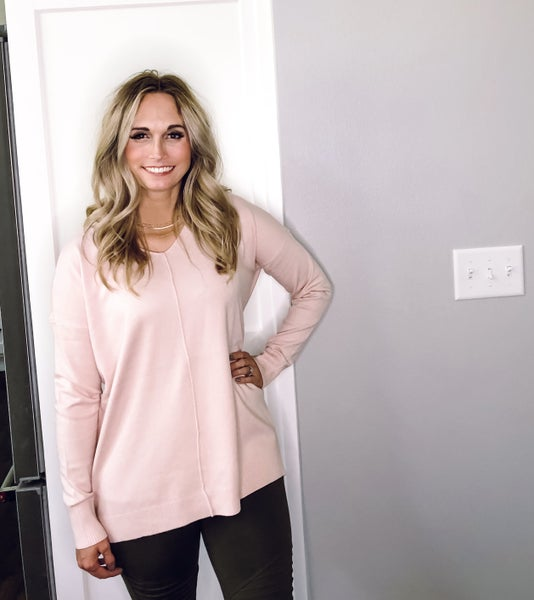 Blushing All Day Sweater