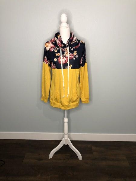 Floral Cowl Sweatshirt