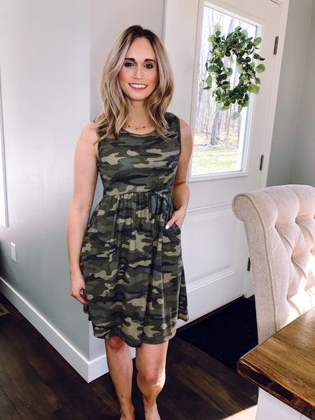 Camo Pocket Dress