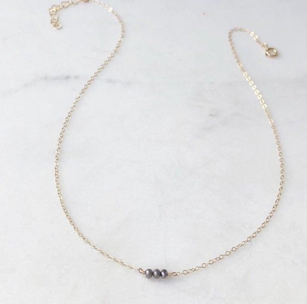 Smokey Pearl Necklaces