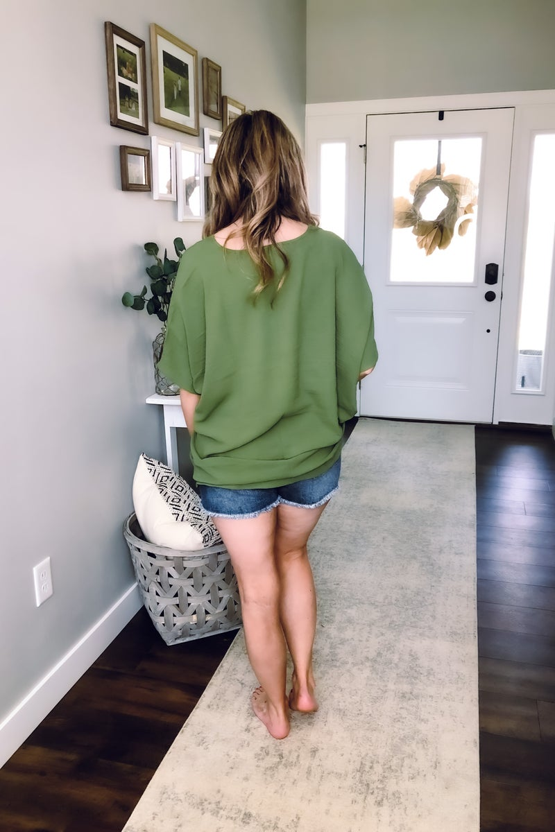 Olive Dolman Shirt