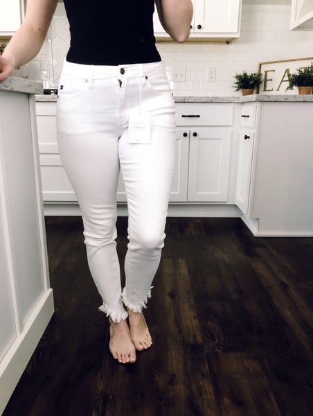 White Ankle Distressed Kancan