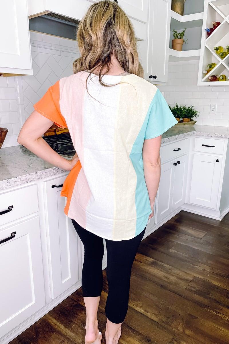 Pastel  Colorblock Top