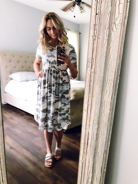 Camo Short Sleeve Dress