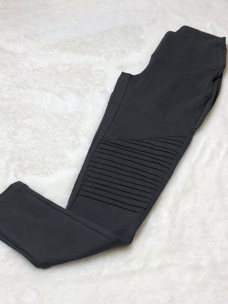 Grey Moto Legging