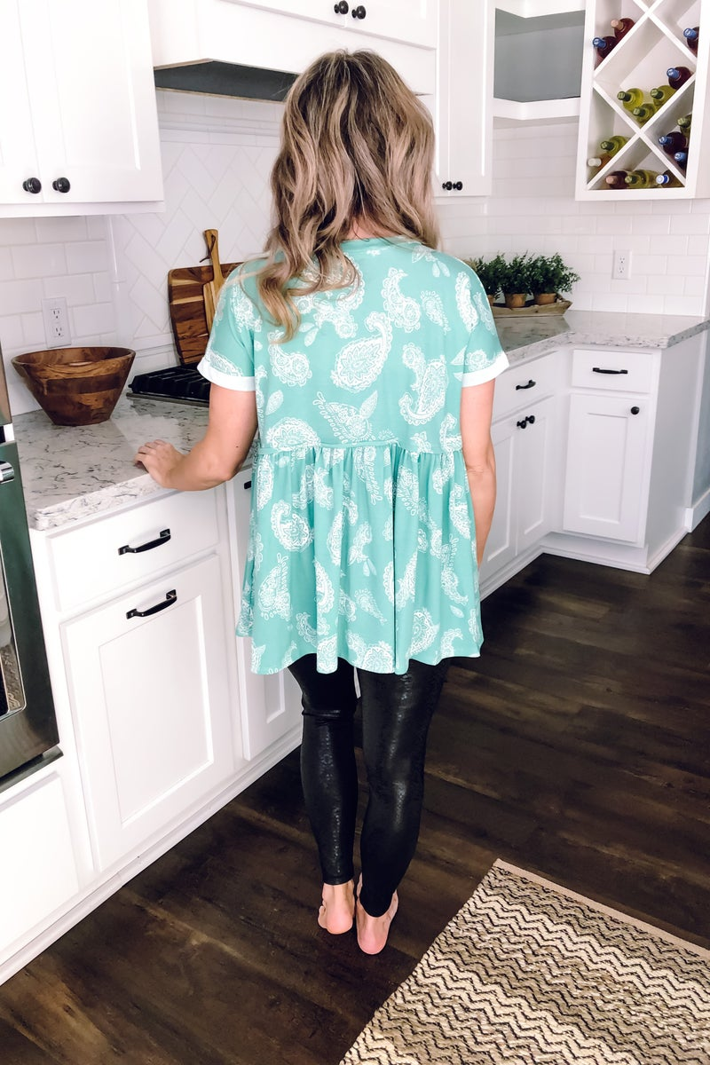 Paisley Baby Doll Top