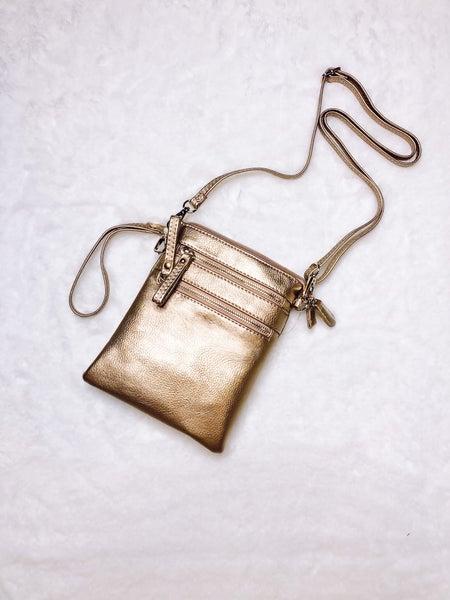 Rose Gold Cross Body Bag