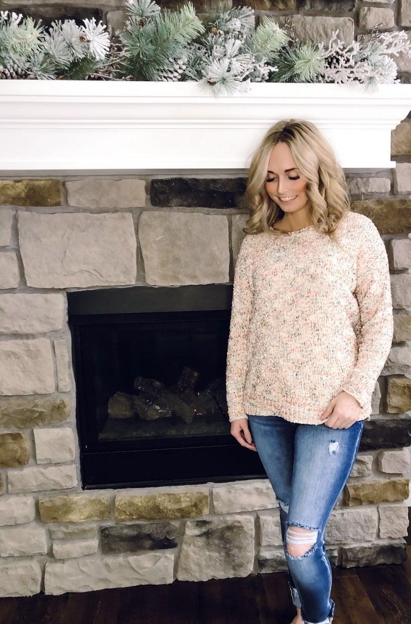 Chenille Multi Colored Sweater