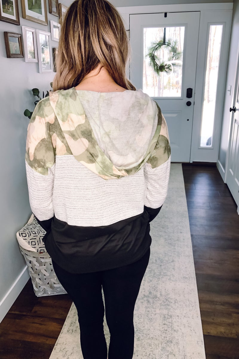 Camouflage Block Pullover