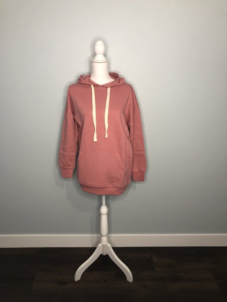 Rose Hooded Sweatshirt with Pockets