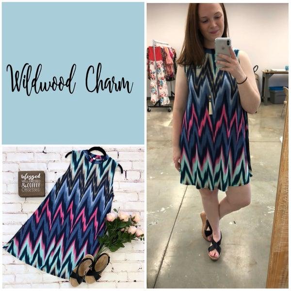 Sleeveless Chevron Dress