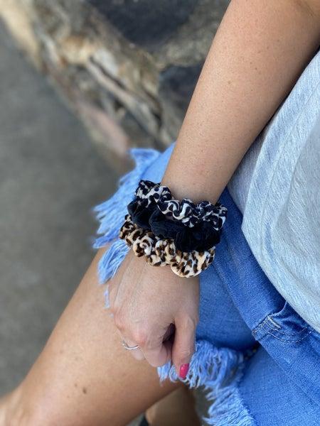 Cheetah Scrunchies