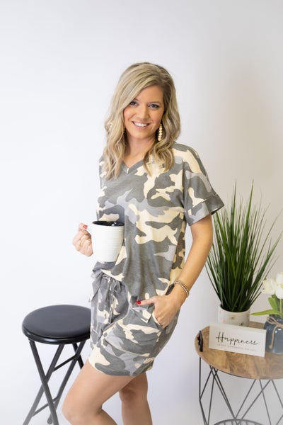 Dusty Camo Short Set *set sold separately*