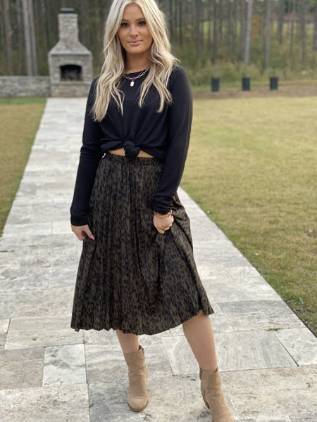 My Fall Leopard Skirt