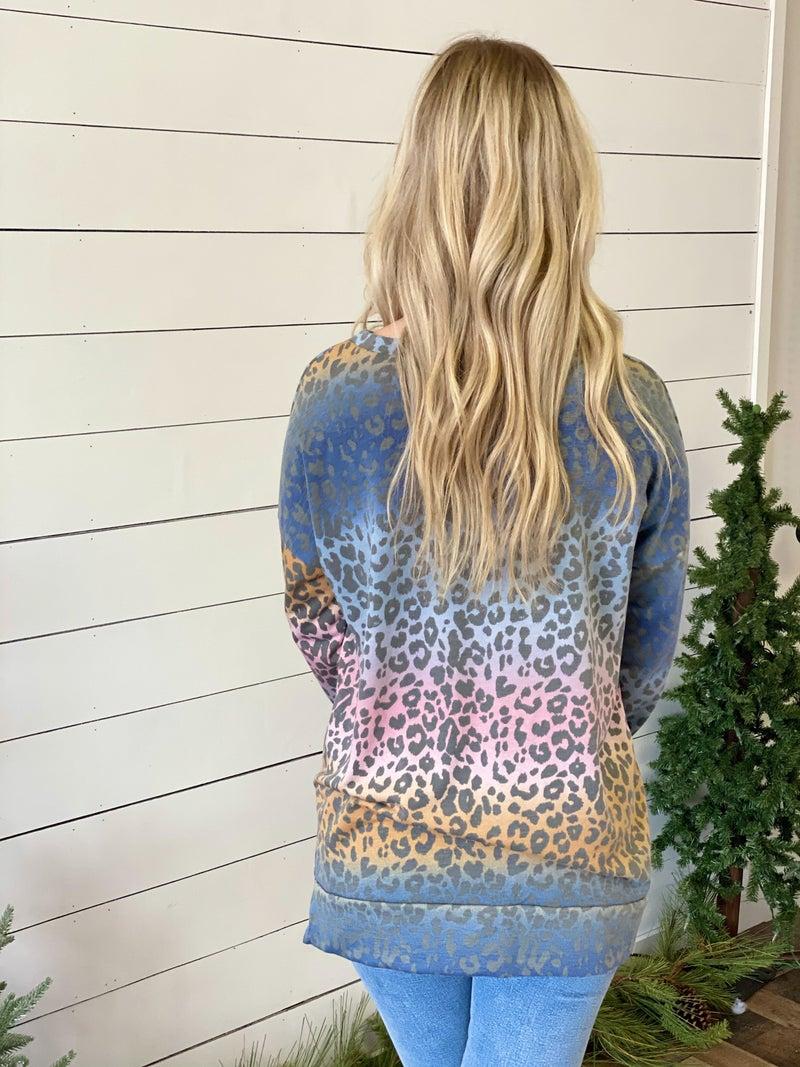 Colorful Cheetah Top