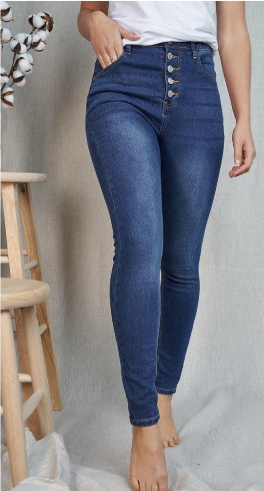 White Birch Multibutton Jeans
