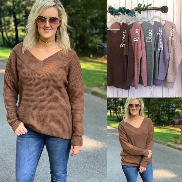 Deep vneck sweater