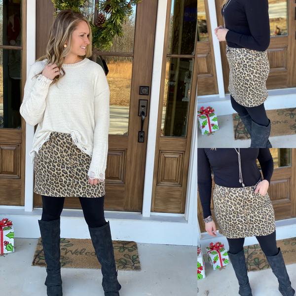 Leopard Skirt *Final Sale*