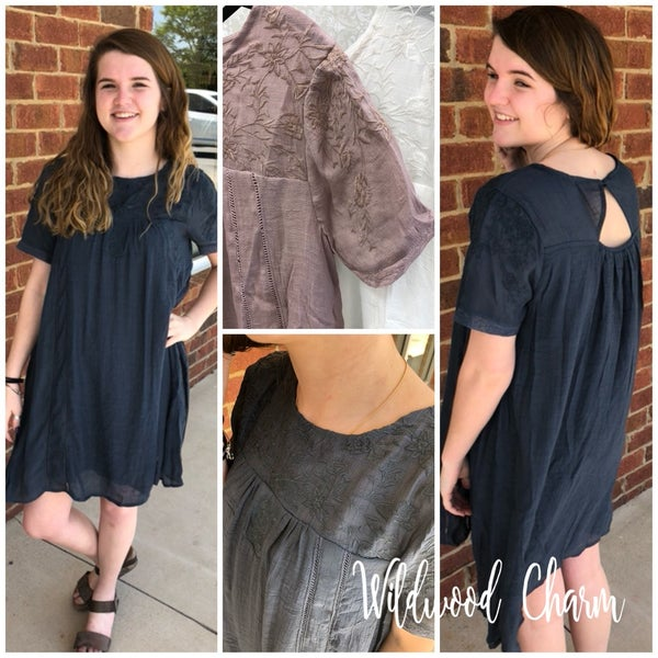 Embroidered Dress-Summer Perfect!