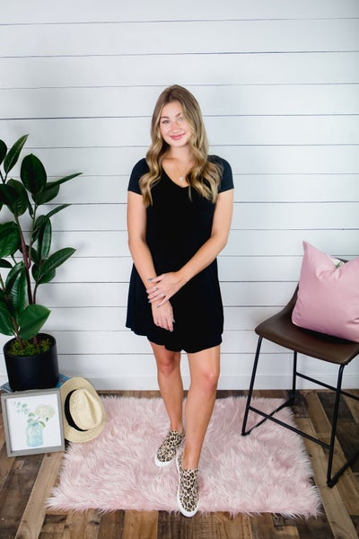 Basic Little Black T-Shirt Dress