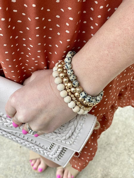 Beaded bracelets are so in