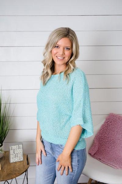 Aqua Sweater for the Spring