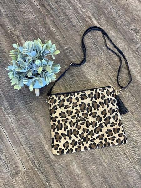 Leopard Crossbody Clutch