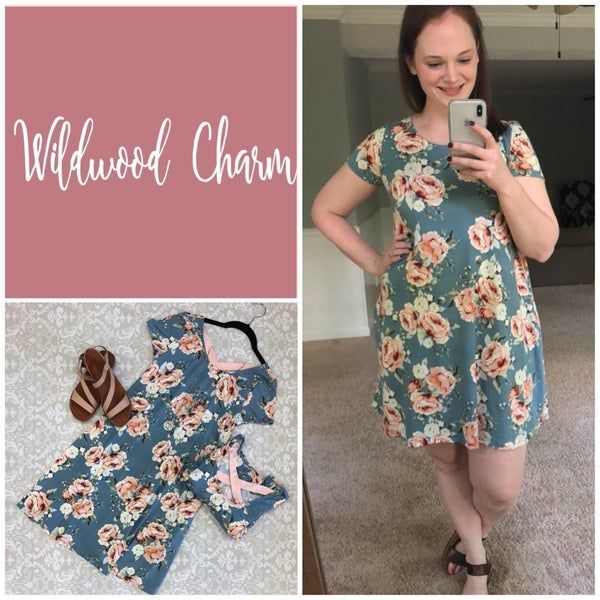 Floral Dress with contrasting Crisscross back