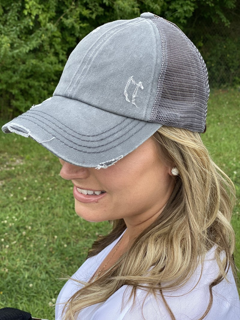 Crisss-cross ball cap