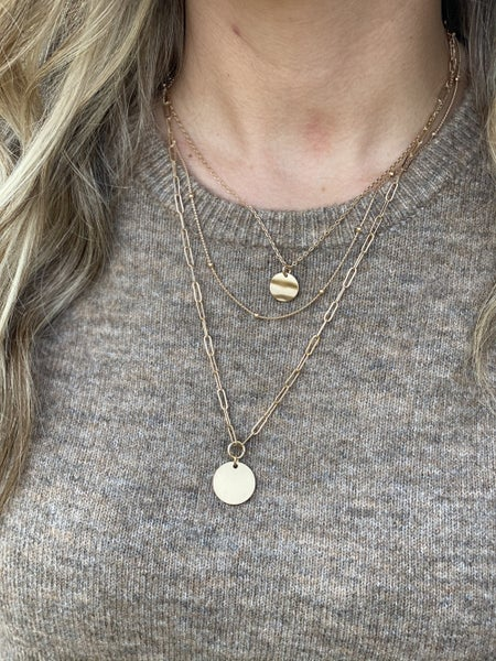 Gold/Silver Layer Necklace